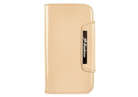 Glossy Coffee Color Leather Wallet Leather Case for Samsung Galaxy S3 i9300
