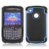Triple Layer Defender Back Case for Blackberry Curve 8520 - Blue