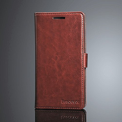 Bracevor (Auto Sleep Wake) Premium Leather Flip Cover Case For Oneplus One   - Executive Brown