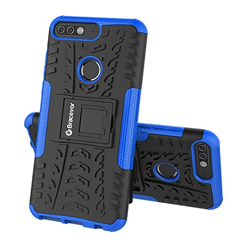 Bracevor HON7CDKSBU Back Case Cover with Kickstand for Huawei Honor 7C (Blue)