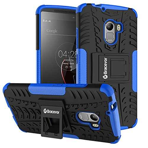Bracevor Back Cover Case For Lenovo Vibe K4 Note Hybrid Defender Kickstand (Blue)