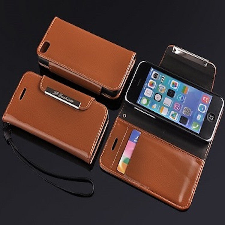 Leather Brown Glossy Apple iPhone 5c Leather Case