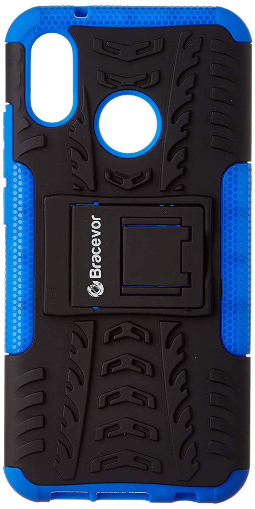 Bracevor Shockproof Huawei P20 Lite Hybrid Kickstand Back Case Defender Cover - Blue