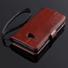 Executive Brown Wallet Leather Case Cover for HTC One M7