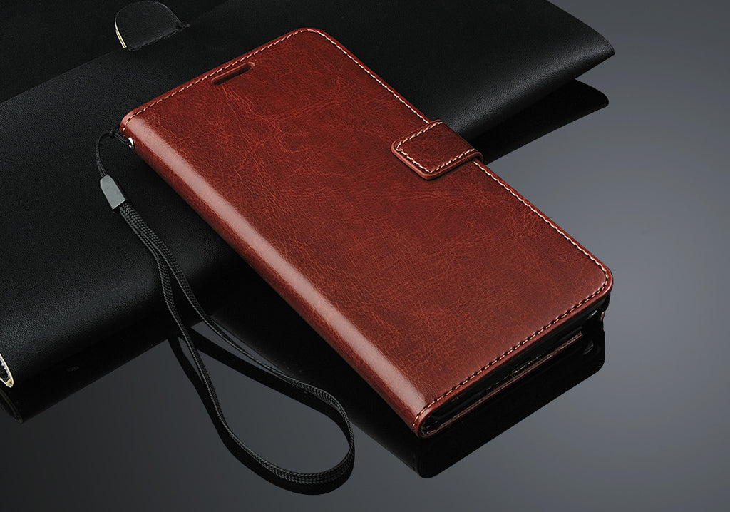 Executive Brown Samsung Galaxy Note 4 Wallet Leather Case