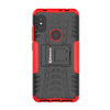 Bracevor Shockproof Xiaomi Redmi Note 6 Pro Hybrid Kickstand Back Case Defender Cover - Red