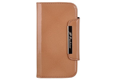 Glossy Brown Leather Wallet Leather Case for Samsung Galaxy S3 i9300
