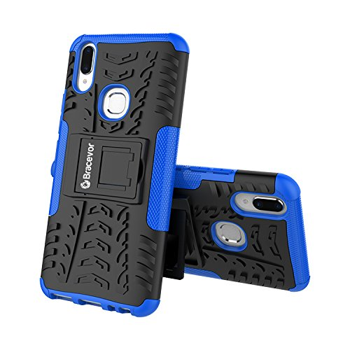 Shockproof Vivo V9 Hybrid Kickstand Back Case Defender Cover - Blue