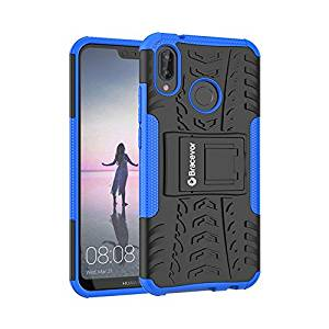 Shockproof Huawei P20 Lite Hybrid Kickstand Back Case Defender Cover - Blue