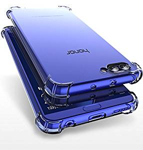 Bracevor Honor View 10 Flexible Shockproof TPU Back Case Cover | Ultimate Edge Protection | Cushioned Edges | Anti Slip | Premium Design - Transparent