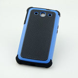 Triple Layer Defender Back Case for Samsung Galaxy S3 i9300 - Blue