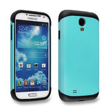 Turquoise Blue Tough Armor Back Case for Samsung Galaxy S4 i9500