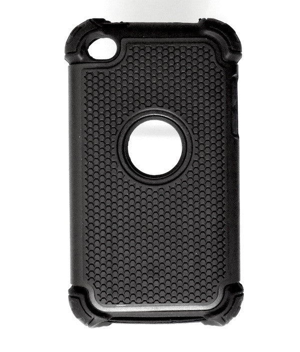 Bracevor Triple Layer Defender Back Case Cover for Apple iPod Touch 4 - Black