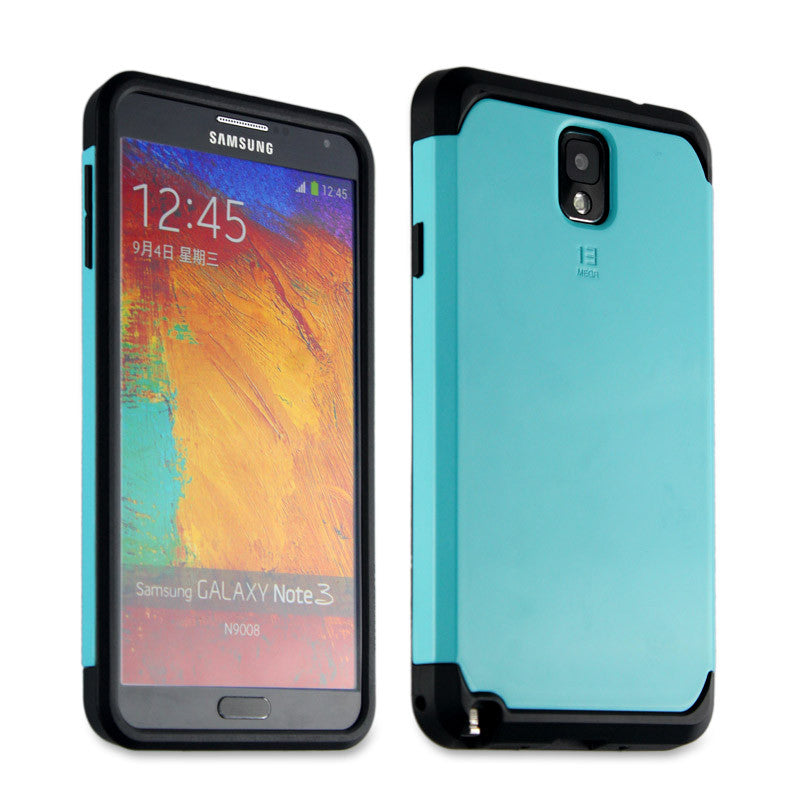 Bracevor Tough Armor Back Case for Samsung Galaxy Note 3 - Turquoise Blue