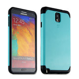 Tough Armor Back Case for Samsung Galaxy Note 3 - Turquoise Blue