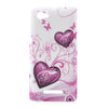Hearts design hard back case cover for Sony Xperia M Bracevor