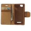 Bracevor Mercury Goospery Sonata Wallet Leather Magnetic Case for Sony Xperia M - Beige 4