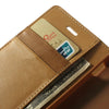 Bracevor Mercury Goospery Sonata Wallet Leather Magnetic Case for Sony Xperia M - Beige 5