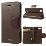 Mercury Goospery Sonata Wallet Leather Magnetic Case for Sony Xperia M - Brown