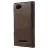 Bracevor Mercury Goospery Sonata Wallet Leather Magnetic Case for Sony Xperia M - Brown 3