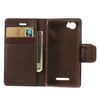 Bracevor Mercury Goospery Sonata Wallet Leather Magnetic Case for Sony Xperia M - Brown 4