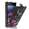 Bracevor Vertical Flip Leather Case Cover for Sony Xperia M - Hearts Design