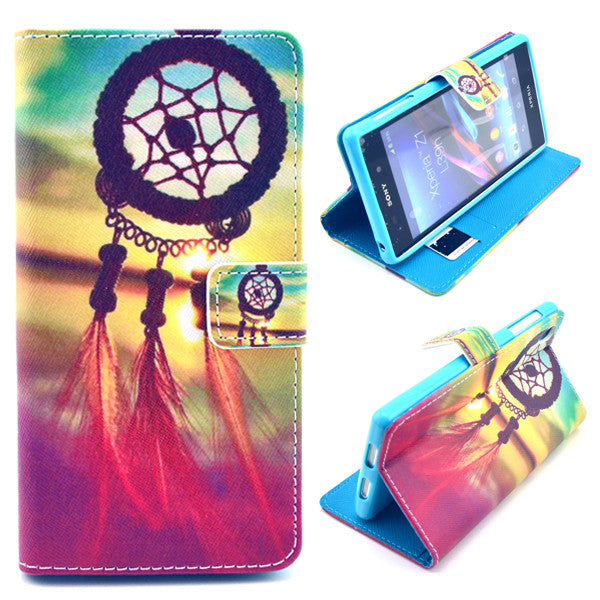 Bracevor Dream Catchers Design Wallet Leather Flip Case for Sony Xperia Z1 L39H