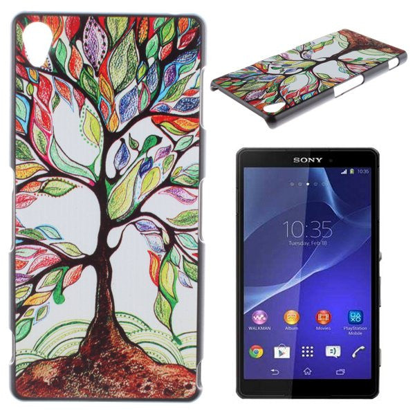 Bracevor Rainbow Tree Design Hard Back Case Cover for Sony Xperia Z1 L39H