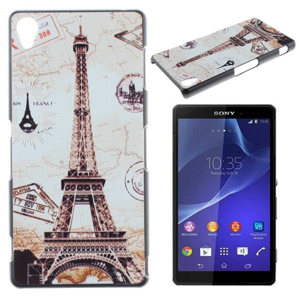 new style f4448 cf2b9 Eiffel Tower Design Hard Back Case Cover for Sony Xperia Z1 L39H