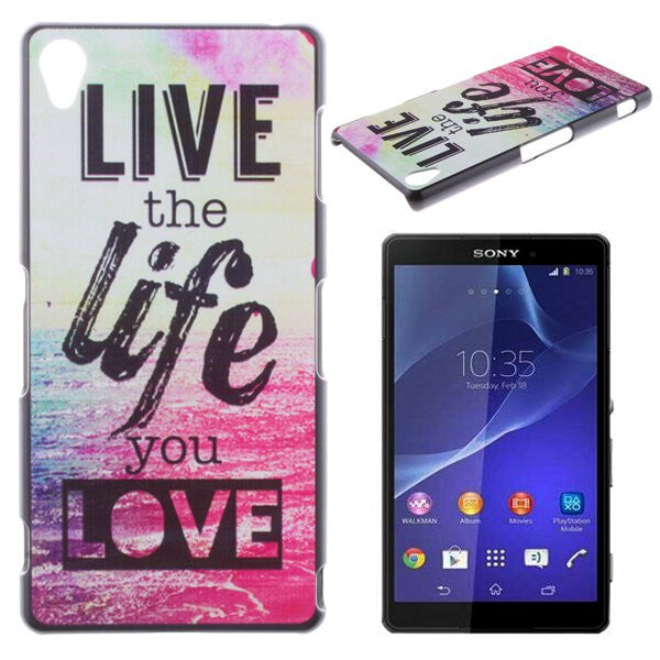 Bracevor Life Design Hard Back Case Cover for Sony Xperia Z1 L39H