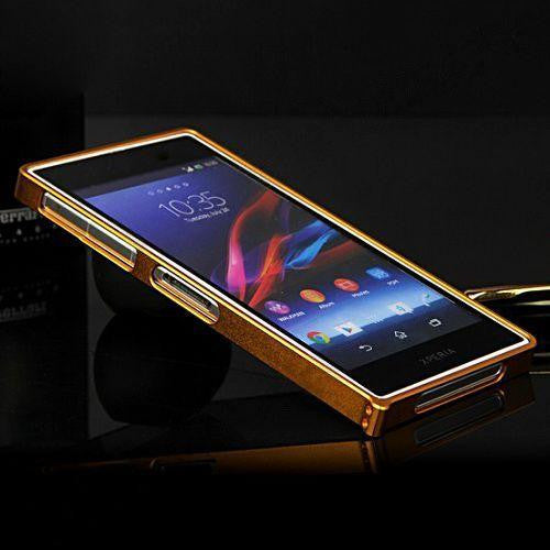 Bracevor Super Slim 0.7MM Aluminium  Bumper Case for Sony L39h Xperia Z1 (Gold)