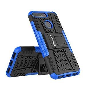 Shockproof Honor 7A Hybrid Kickstand Back Case Defender Cover - Blue