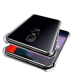Bracevor Flexible Shockproof TPU Cushioned Edges Premium Design Back Case Cover For Oneplus 6 | One Plus 6(Transparent)