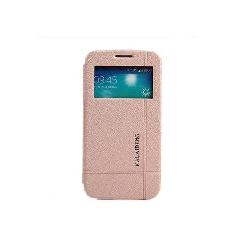 Kaleideng Flip Window View Stand Leather Case for Samsung Galaxy Grand 2 Peach from Bracevor