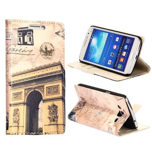 Bracevor Design Wallet Stand Leather Case for Samsung Galaxy Grand 2 (Triumph Arch)