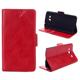 Bracevor Wallet Stand Leather Case for Samsung Galaxy Grand 2 (Red)