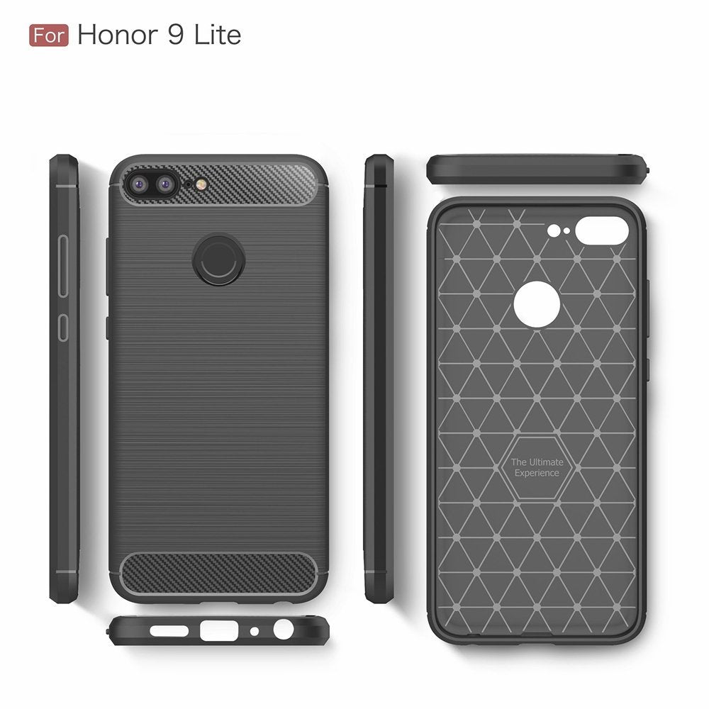 official photos e3c78 04d3b Honor 9 Lite Back Case Cover | Flexible Shockproof TPU | Brushed ...
