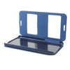 Bracevor Dual Window Texture Leather Stand Flip Case for HTC Desire 816 - Blue