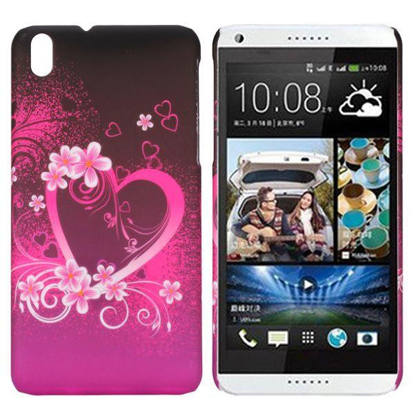 Bracevor Elegant Heart Design hard back case cover for HTC Desire 816