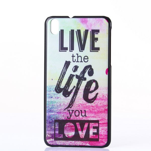 Bracevor Live the Life Design Hard Back Case Cover for HTC Desire 816