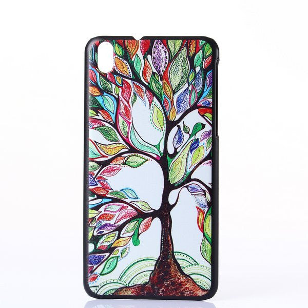 Bracevor Rainbow Tree Design Hard Back Case Cover for HTC Desire 816