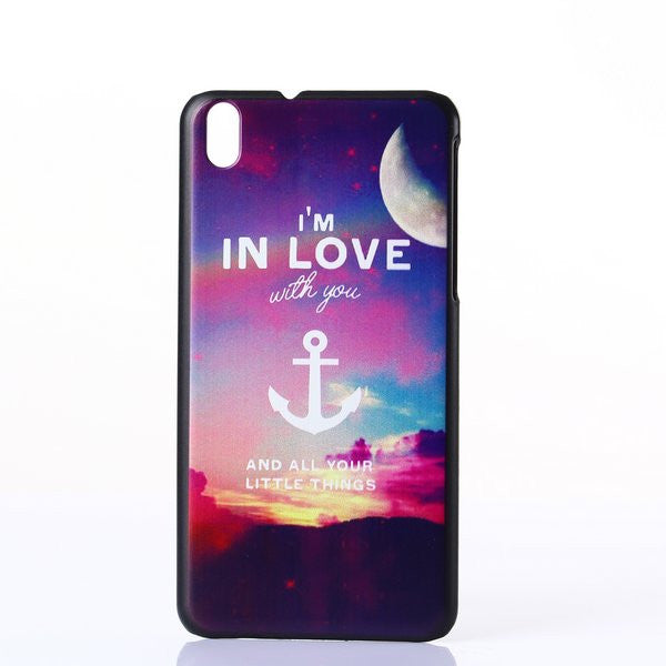 Bracevor Love Anchor Design Hard Back Case Cover for HTC Desire 816