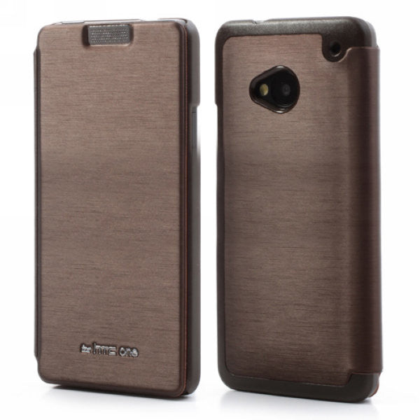Mercury Goospery Techno Wallet Leather Flip Cover for HTC One M7 801e (Brown)