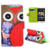 Bracevor Design Wallet Stand Leather Case for HTC One M7 - Red Owl