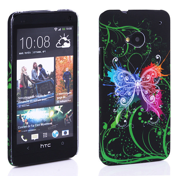 Bracevor Avatar Butterfly design Hard Back case for HTC One M7 801e