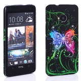 Avatar Butterfly design Hard Back case for HTC One M7 801e