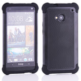 Triple Layer Defender Back Case for HTC One M7 801e - Grey