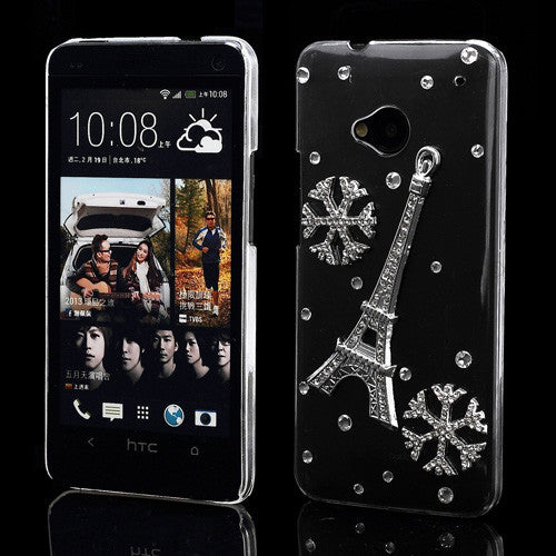 Tower Diamond Transparent Designer Back case for HTC One M7 801e