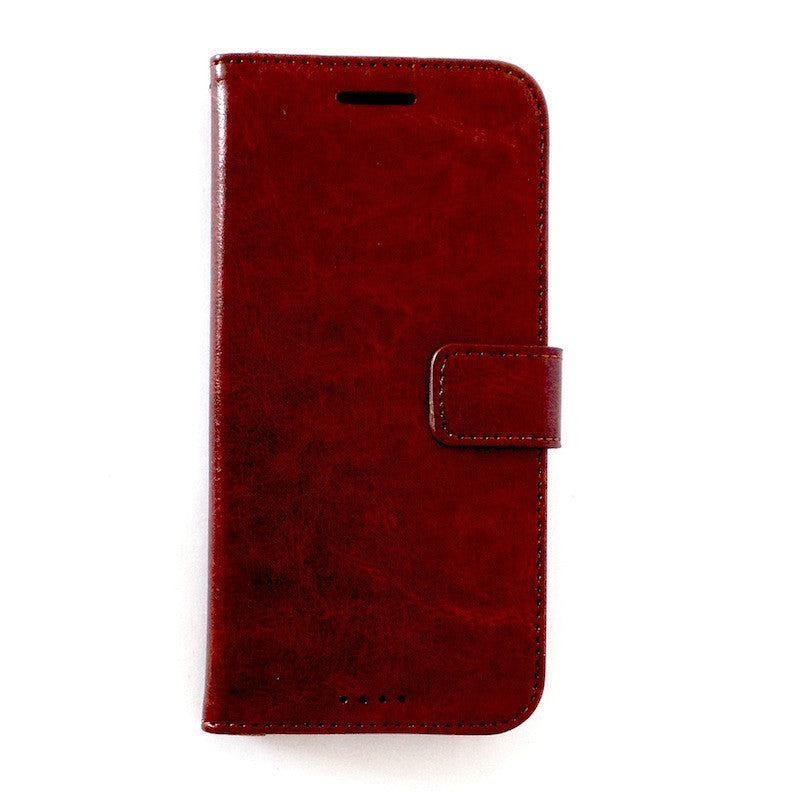 Bracevor Executive Brown HTC One M8 Wallet Leather Case 1