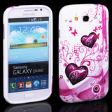 Elegant Heart Design Hard Back Case Cover for Samsung Galaxy Grand Duos